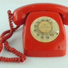 Teléfonos: VINTAGE TELÉFONO COLOR ROJO CITESA ESPAÑA AÑOS 70-80 EXCELENTE PIEZA DE DECORACIÓN. Lote 190329203