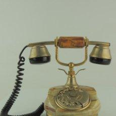 Teléfonos: EXCELENTE VINTAGE TELÉFONO ANTIGUO ONIX O MÁRMOL Y METAL. Lote 190329512