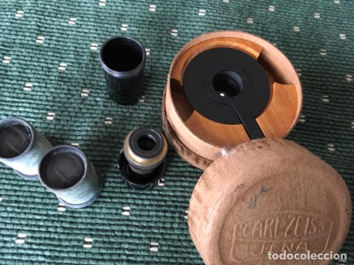 Antigüedades: Tres lentes y un condensador cardioide para microscopio. Carl Zeiss Jena 1942 - Foto 2 - 190333703