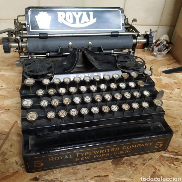 MAQUINA DE ESCRIBIR ROYAL 5 (Antigüedades - Técnicas - Máquinas de Escribir Antiguas - Royal)