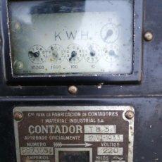 Antigüedades: CONTADOR DE LUZ AÑO 1933. Lote 190392945