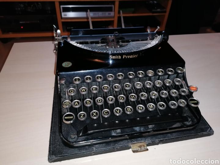 Antigüedades: Antigua máquina de escribir SMITH PREMIER No. 3 - Foto 6 - 190396853