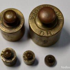 Antigüedades: BONITOS PONDERALES DE JOYERO ANTIGUOS DEL SIGLO XIX CON SUS MARCAJES.EXTRAORDINARIO ESTADO.. Lote 190428363