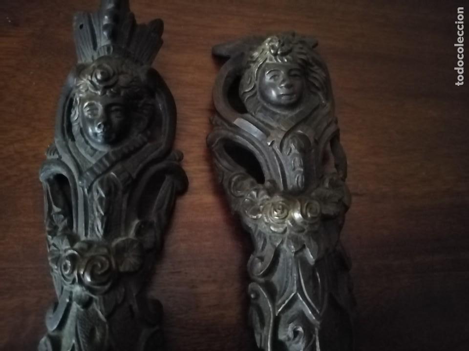 Antigüedades: Pareja de Bronces para muebles o puertas. - Foto 11 - 190494805