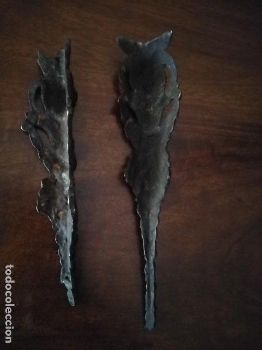 Antigüedades: Pareja de Bronces para muebles o puertas. - Foto 12 - 190494805