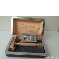 Antigüedades: ANTIGUA MAQUINILLA DE AFEITAR GILLETTE SAFETY RAZOR MADE IN ENGLAND. Lote 190538248
