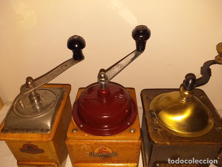 Antigüedades: 3 Molino de Cafe 1 de Pimienta y 1 Salero de la firma Alemana Zassenhaus (RZ Robert Zassenhaus) - Foto 6 - 190560198