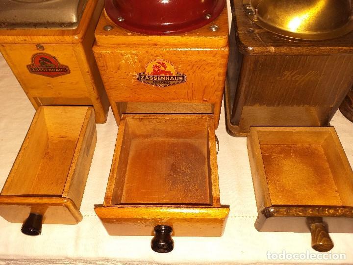 Antigüedades: 3 Molino de Cafe 1 de Pimienta y 1 Salero de la firma Alemana Zassenhaus (RZ Robert Zassenhaus) - Foto 8 - 190560198