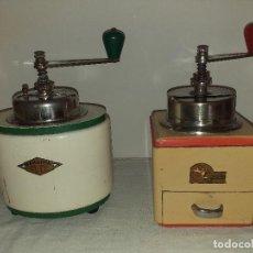 Antigüedades: 2 MOLINO MOLINILLO DE CAFE DE LA FIRMA CHECOSLOVACA B.O. GARANTIE OUHRABKA. CA. 1930/39.. Lote 190606286