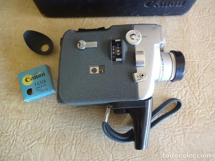 Antigüedades: camara cine canon motor zoom 8 mm con maletin - Foto 3 - 190698568