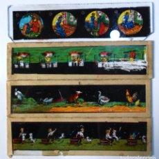 Antiquités: LOTE DE 4 CRISTALES PARA LINT. MAGICA DE 20X6 CM. VER DETALLES. Lote 19098410