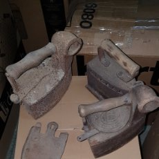 Antigüedades: LOTE ANTIGUAS PLANCHAS Y SOPORTES. Lote 190836617