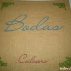 Antigüedades: IMPRENTA, LETERPRESS, EXCELENTE CATALOGO BODAS. Lote 190843032