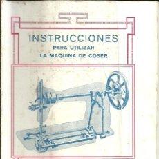 Antigüedades: INSTRUCCIONES PARA LA MÁQUINAS DE COSER ALFA DE BOBINA CENTRAL - EIBAR . Lote 190866706