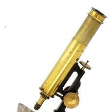 Antigüedades: MICROSCOPIO ANTIGUO COLLINS EN CAJA CAOBA (C.1870). Lote 190867937