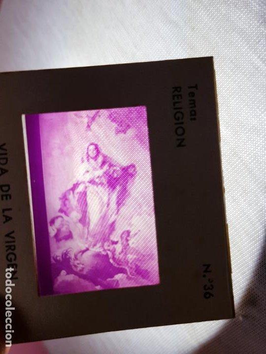 Antigüedades: JUEGO-DIAPOSITIVAS-VIDA DE LA VIRGEN MARÍA-ENOSA-(EMPRESA NACIONAL DE ÓPTICA)-CAJA-BUEN ESTADO - Foto 5 - 190875231