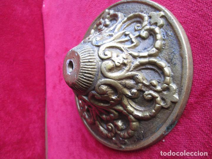 Antigüedades: TIRADOR EN BRONCE PARA RESTAURAR MUEBLE ESPECIAL.- FLORON - Foto 3 - 190897768