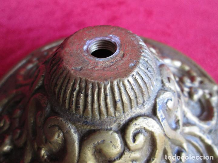 Antigüedades: TIRADOR EN BRONCE PARA RESTAURAR MUEBLE ESPECIAL.- FLORON - Foto 5 - 190897768