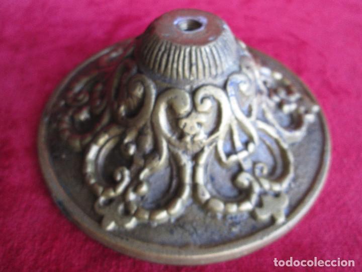 Antigüedades: TIRADOR EN BRONCE PARA RESTAURAR MUEBLE ESPECIAL.- FLORON - Foto 6 - 190897768