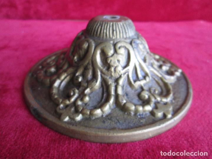 Antigüedades: TIRADOR EN BRONCE PARA RESTAURAR MUEBLE ESPECIAL.- FLORON - Foto 7 - 190897768