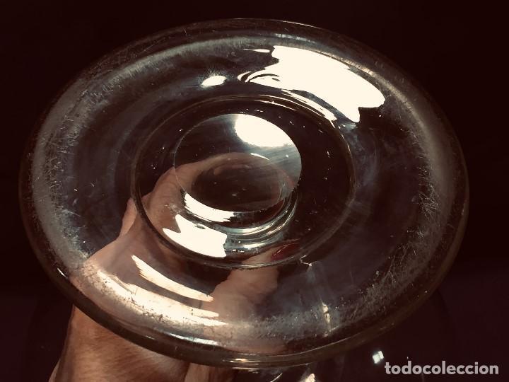 Antigüedades: antigua lupa borbadora en vidrio soplado hecha a mano vela luz s xviii xix - Foto 18 - 190902991