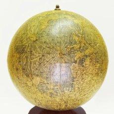 Antigüedades: 1977 - GLOBO LUNAR DE LA ÉPOCA DE LA CARRERA ESPACIAL - RÄTH DE 33CM. SOPORTE ORIGINAL. Lote 89723928