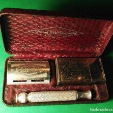 Antigüedades: GILLETTE TECH SET Nº 45 ENGLAND 1953 COMPLETA, BUENA CONSERVACION. MAQUINILLA AFEITAR. SAFETY RAZOR. Lote 191015916