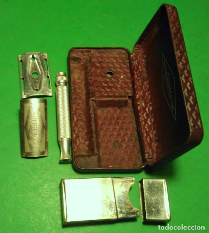 Plata esterlina Estriado Gillette mach 3 Maquinilla de afeitar Londres 1940