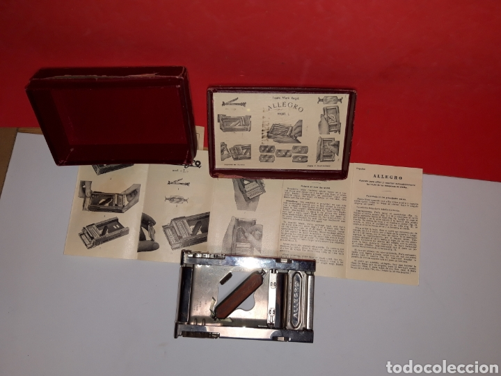 Antigüedades: Afilador cuchillas afeitar ALLEGRO - Foto 2 - 191065097