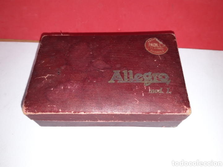 Antigüedades: Afilador cuchillas afeitar ALLEGRO - Foto 4 - 191065097