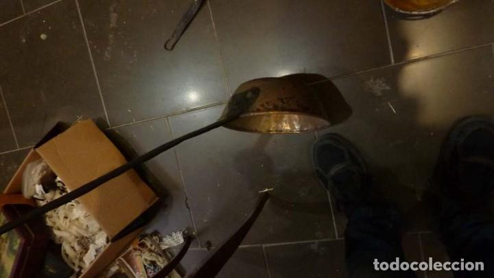 Antigüedades: 4 CAZOS DE BRONCE Y COBRE - Foto 3 - 191134715