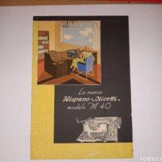 Oggetti Antichi: CARTEL PUBLICIDAD HISPANO OLIVETTI. Lote 191155190