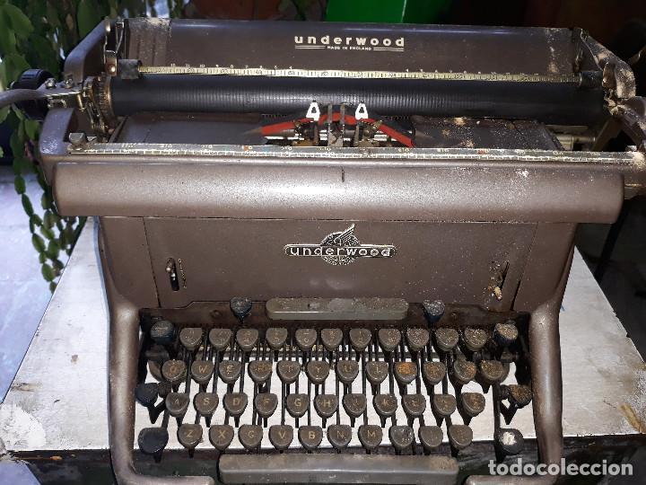 MÁQUINA DE ESCRIBIR UNDERWOOD (Antigüedades - Técnicas - Máquinas de Escribir Antiguas - Underwood)