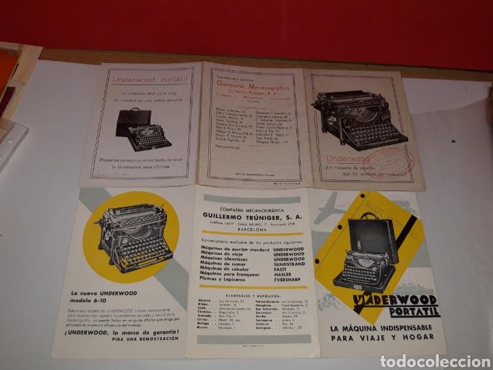 Antigüedades: Folletos Maquina de escribir UNDERWOO - Foto 2 - 191194788