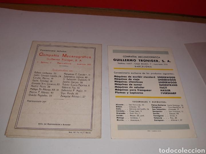 Antigüedades: Folletos Maquina de escribir UNDERWOO - Foto 3 - 191194788