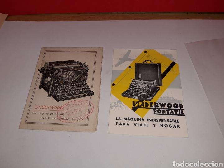 Antigüedades: Folletos Maquina de escribir UNDERWOO - Foto 4 - 191194788