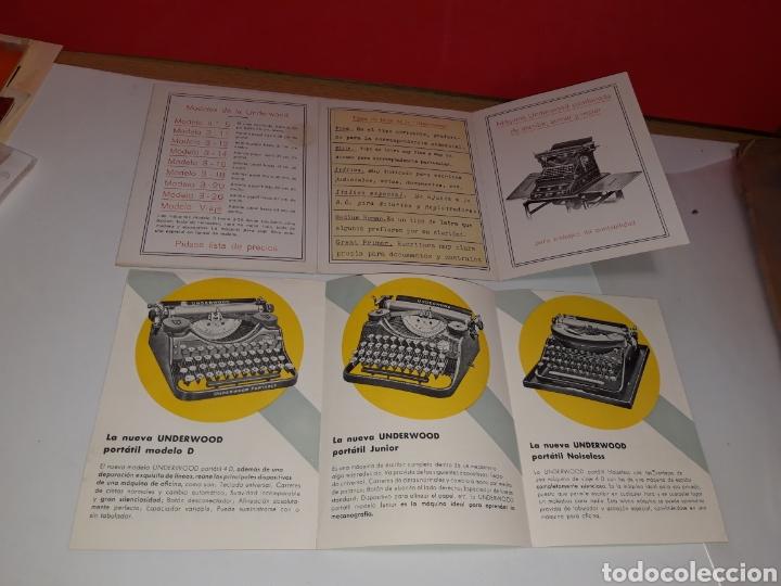 FOLLETOS MAQUINA DE ESCRIBIR UNDERWOO (Antigüedades - Técnicas - Máquinas de Escribir Antiguas - Underwood)