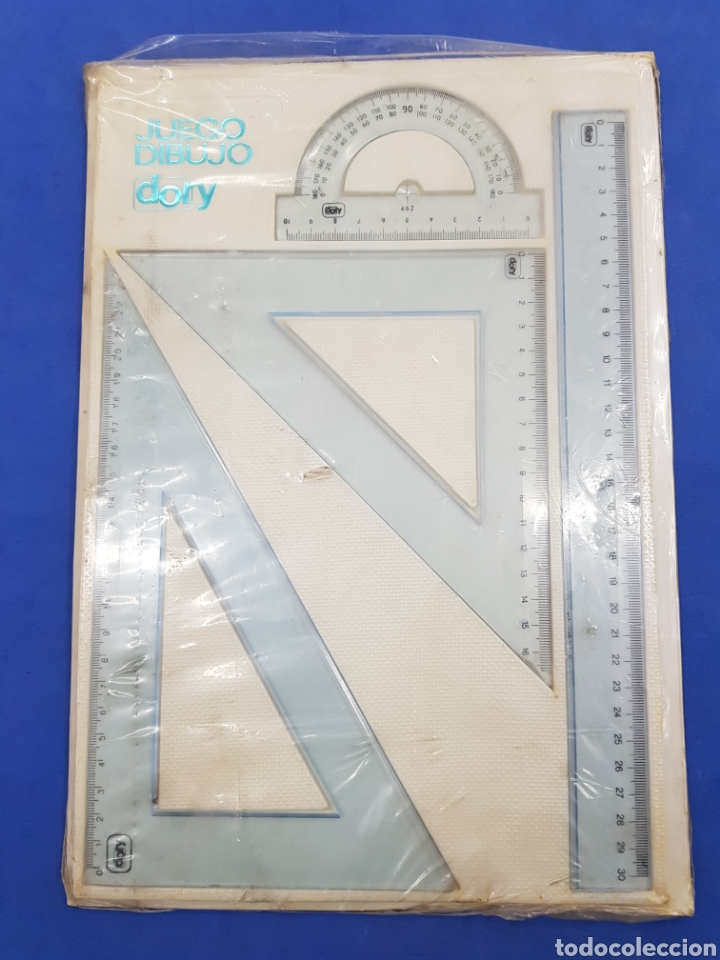 JUEGO DE DIBUJO DORY, AÑOS 1970 (Antigüedades - Técnicas - Aparatos de Cálculo - Reglas de Cálculo Antiguas)