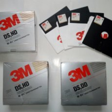 Antigüedades: LOTE 3 CAJAS DE 10 DISKETTES DISQUETTES 3M DS HD 5 1/4 HIGH DENSITY PRECINTADAS - FLOPPY DISK. Lote 191259221