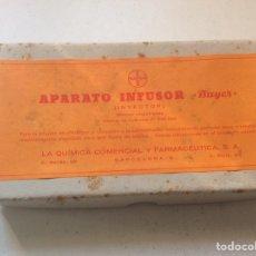 Antigüedades: APARATO INFUSOR (INYECTOR) BAYER, AÑOS 40 SIN USAR. Lote 191261288