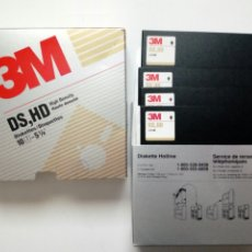 Oggetti Antichi: LOTE DE 4 DISKETTES DISQUETTES 3M DS HD 5 1/4 HIGH DENSITY - FLOPPY DISK - INFORMÁTICA VINTAGE -. Lote 191266738