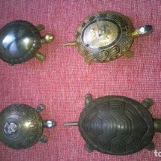 Antigüedades: CUATRO ANTIGUOS/PRECIOSOS TIMBRES TORTUGA DE SOBREMESA.BOJ(EIBAR).FUNCIONAN PERFECTOS. Lote 191273542