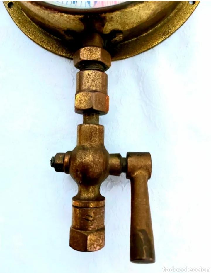 Antigüedades: MANÓMETRO INGLÉS S.XIX SYDNEY SMITH & SONS. PRESION Y VACIO. DECORACION ESTILO INDUSTRIAL - Foto 3 - 191420375