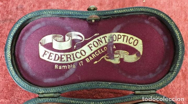 Antigüedades: BINOCULARES DE ÓPERA. METAL Y CUERO. FUNDA ORIGINAL. VOIGTLANDER AND SOHN. SIGLO XX. - Foto 8 - 191436195