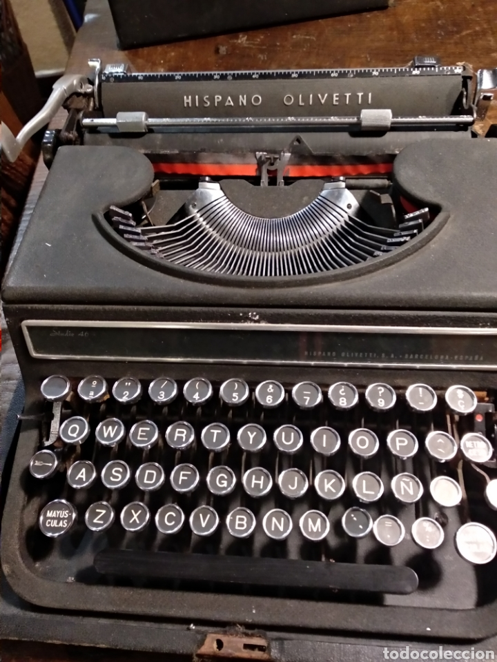 MAQUINA DE ESCRIBIR HISPANO OLIVETTI STUDIO 46 (Antigüedades - Técnicas - Máquinas de Escribir Antiguas - Olivetti)