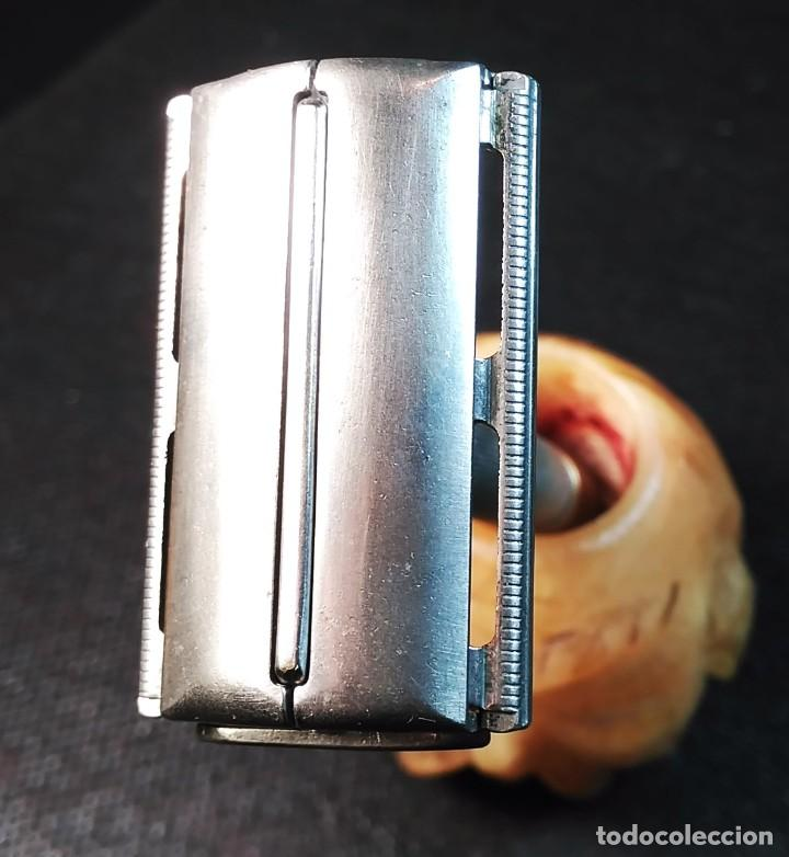 Antigüedades: Maquinilla de afeitar GILLETTE ROCKET set nº 54A o PARAT Brit. Pat. 693094 Safety Razor - Foto 2 - 191647356