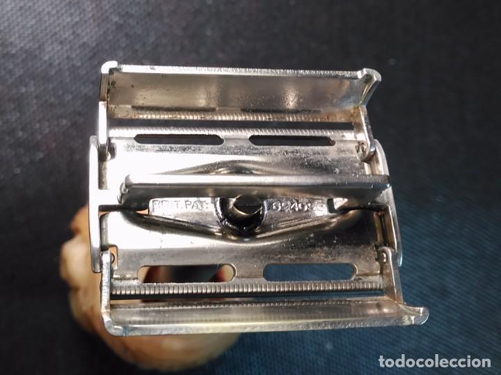 Antigüedades: Maquinilla de afeitar GILLETTE ROCKET set nº 54A o PARAT Brit. Pat. 693094 Safety Razor - Foto 4 - 191647356
