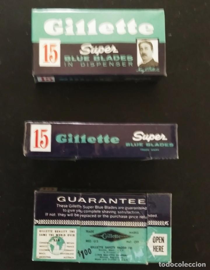 Antigüedades: Maquinilla de afeitar GILLETTE ROCKET set nº 54A o PARAT Brit. Pat. 693094 Safety Razor - Foto 10 - 191647356