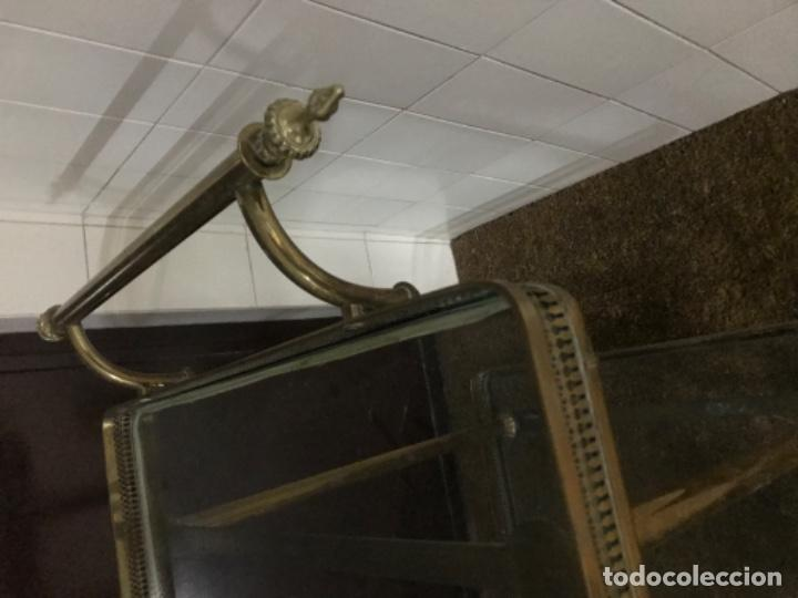 Antigüedades: Carrito camarera de bronce y cristal - Foto 2 - 191660855