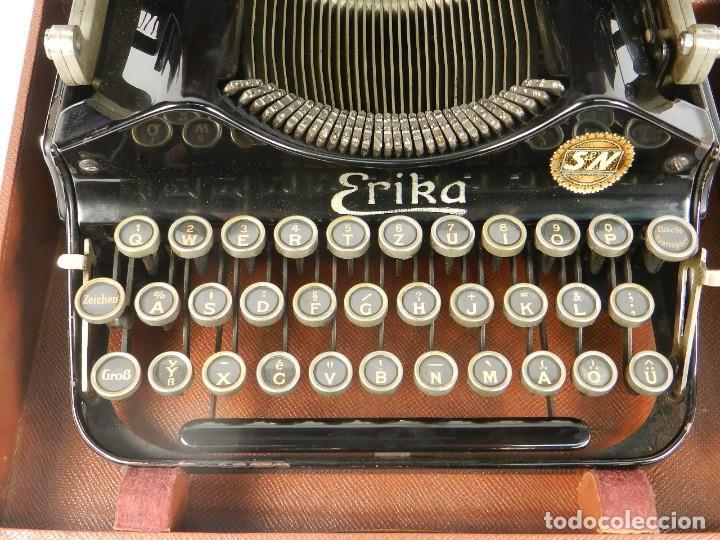 Antigüedades: MAQUINA DE ESCRIBIR ERIKA Nº3 AÑO 1917 PLEGABLE TYPEWRITER SCHREIBMASCHINE - Foto 5 - 191694555